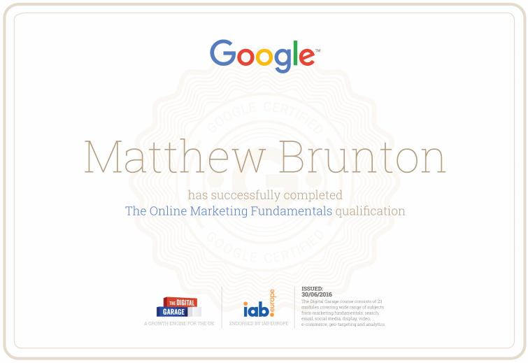 Online Marketing Fundamentals