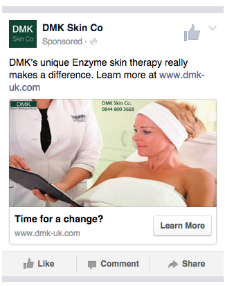 DMK Facebook Adverts