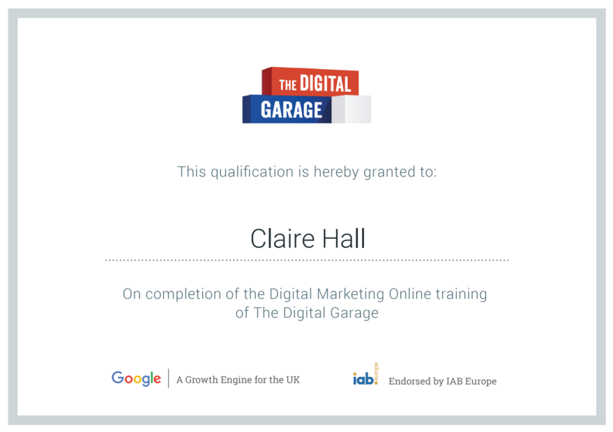 The Digital Garage - Claire