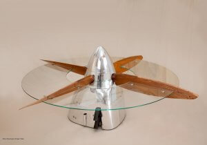 image of table made out of a spitfire