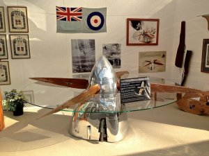 image of table made out of spitfire